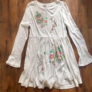 WILDFOX Garden Party White Long Sleeve Dress